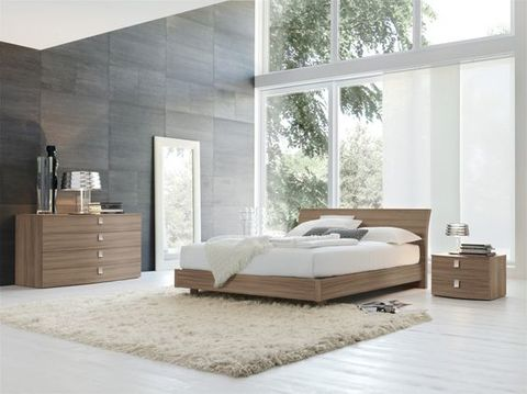 Modern Wooden Miraggio Bed with elegant and simple design