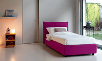 Modern London Bed with a simple design with lining of fabric or technocoder