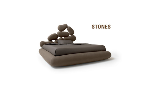 Stones Bed with unique design and lining