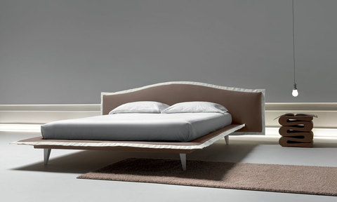 Modern Angel Bed with two-tone silvery and special legs