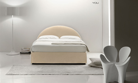 Modern You-Me Bed with simple design and removable covers