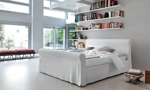 Dressed Nardi bed in romantic style with detachable sofa-style linen